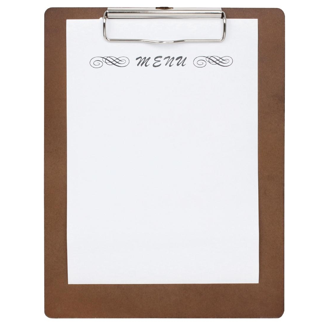 Plaque porte-menus en bois Olympia A5 245x185mm