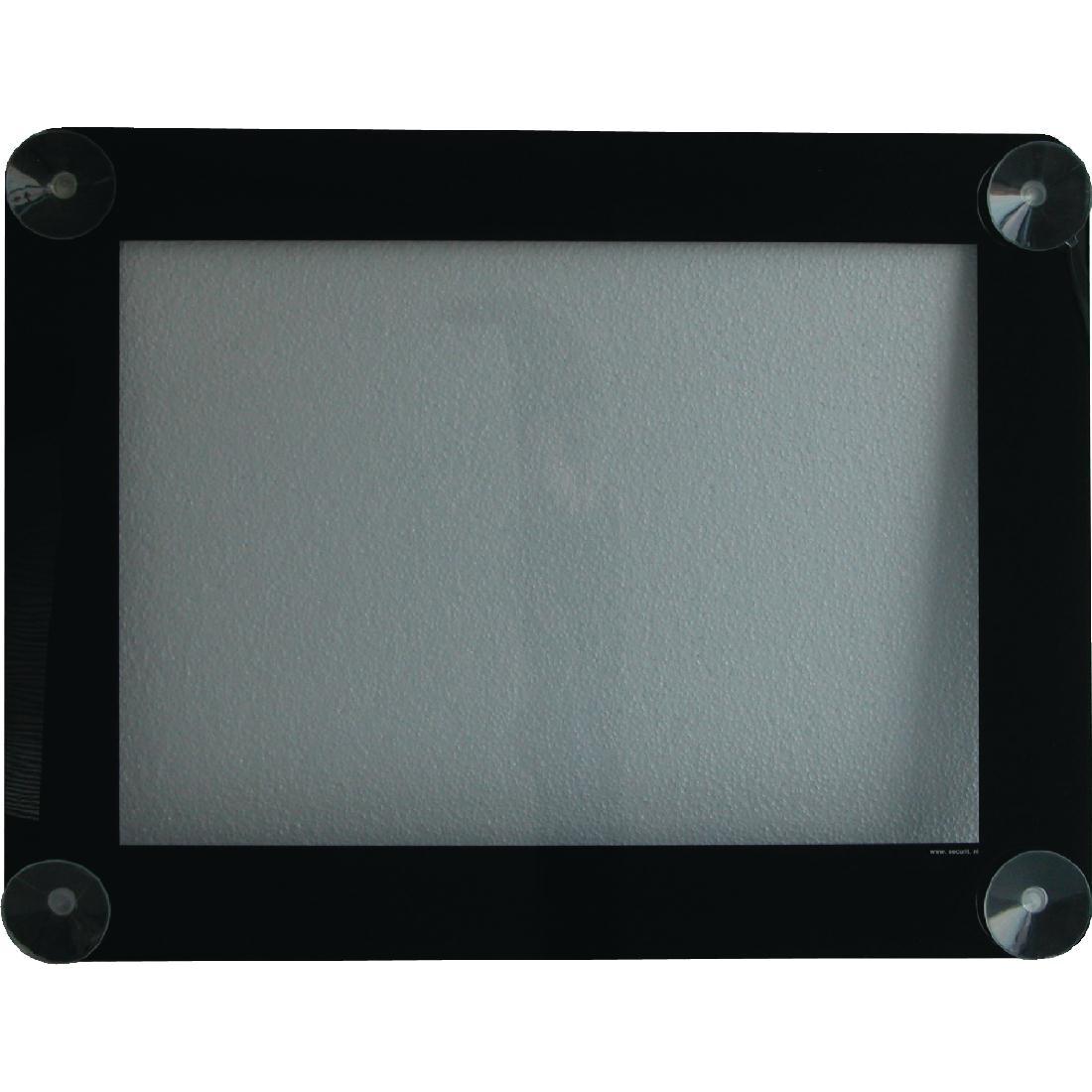 Porte-menu pour vitres noir Securit A4