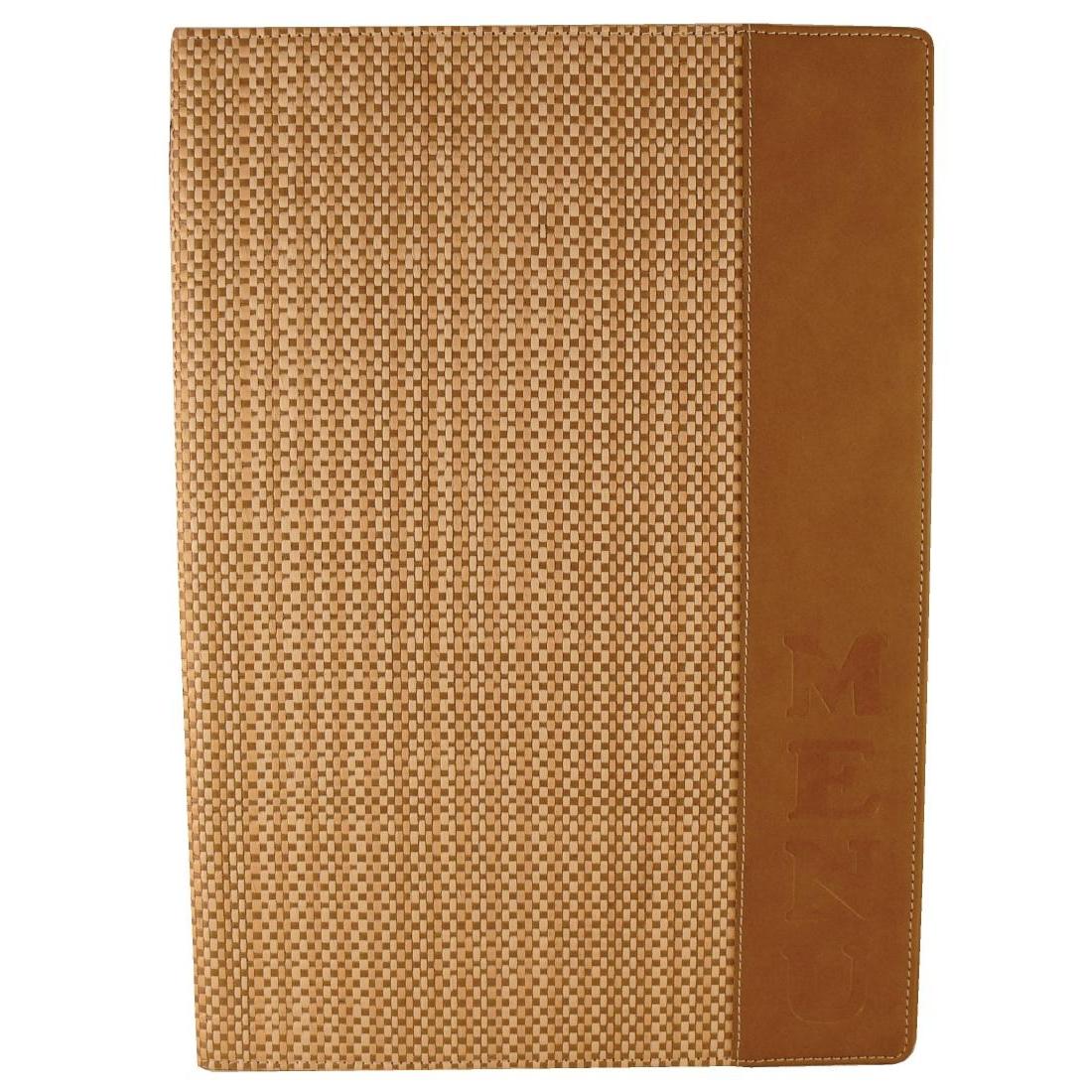 Porte-menu roseau des sables Securit 4x A4