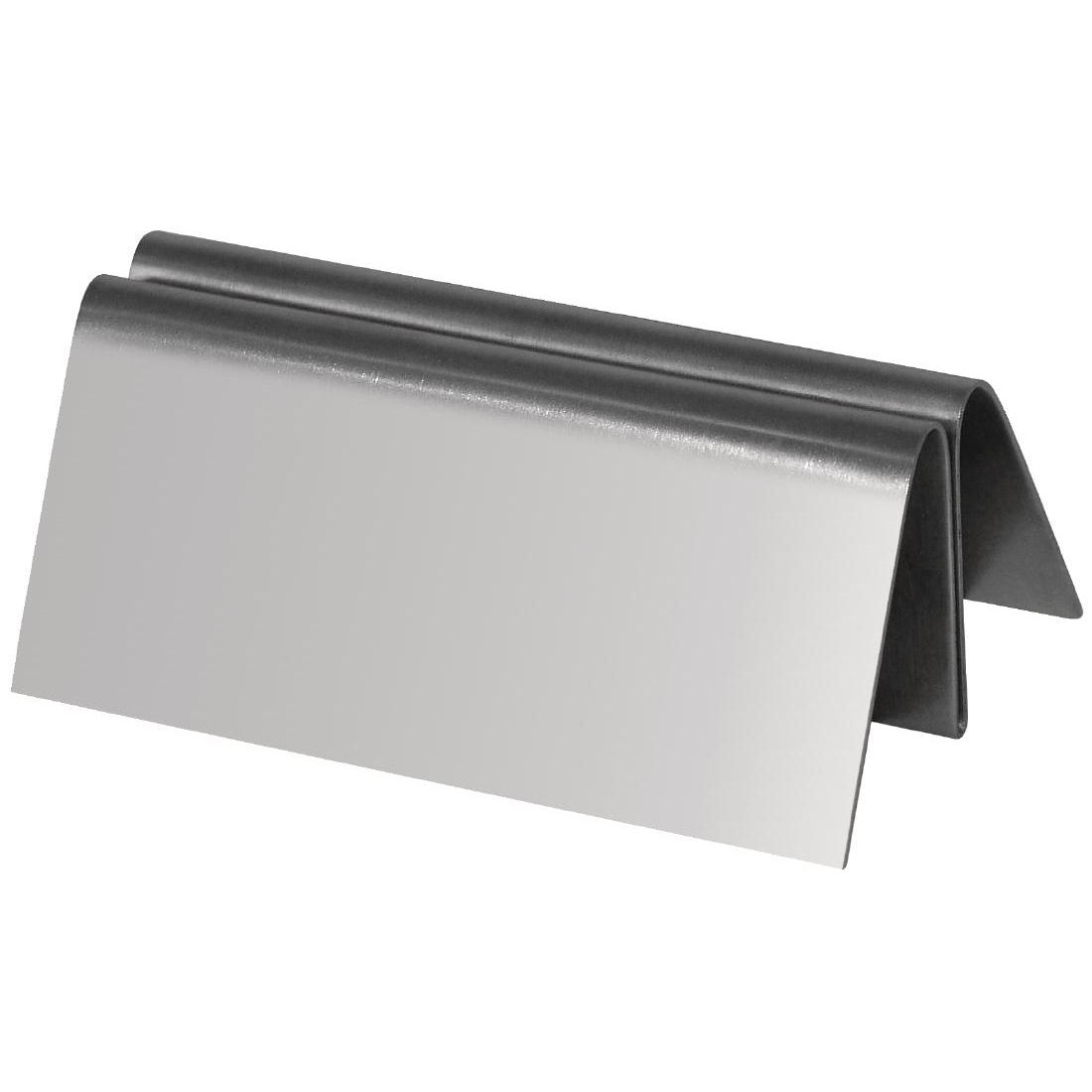 Porte-menu en acier inoxydable