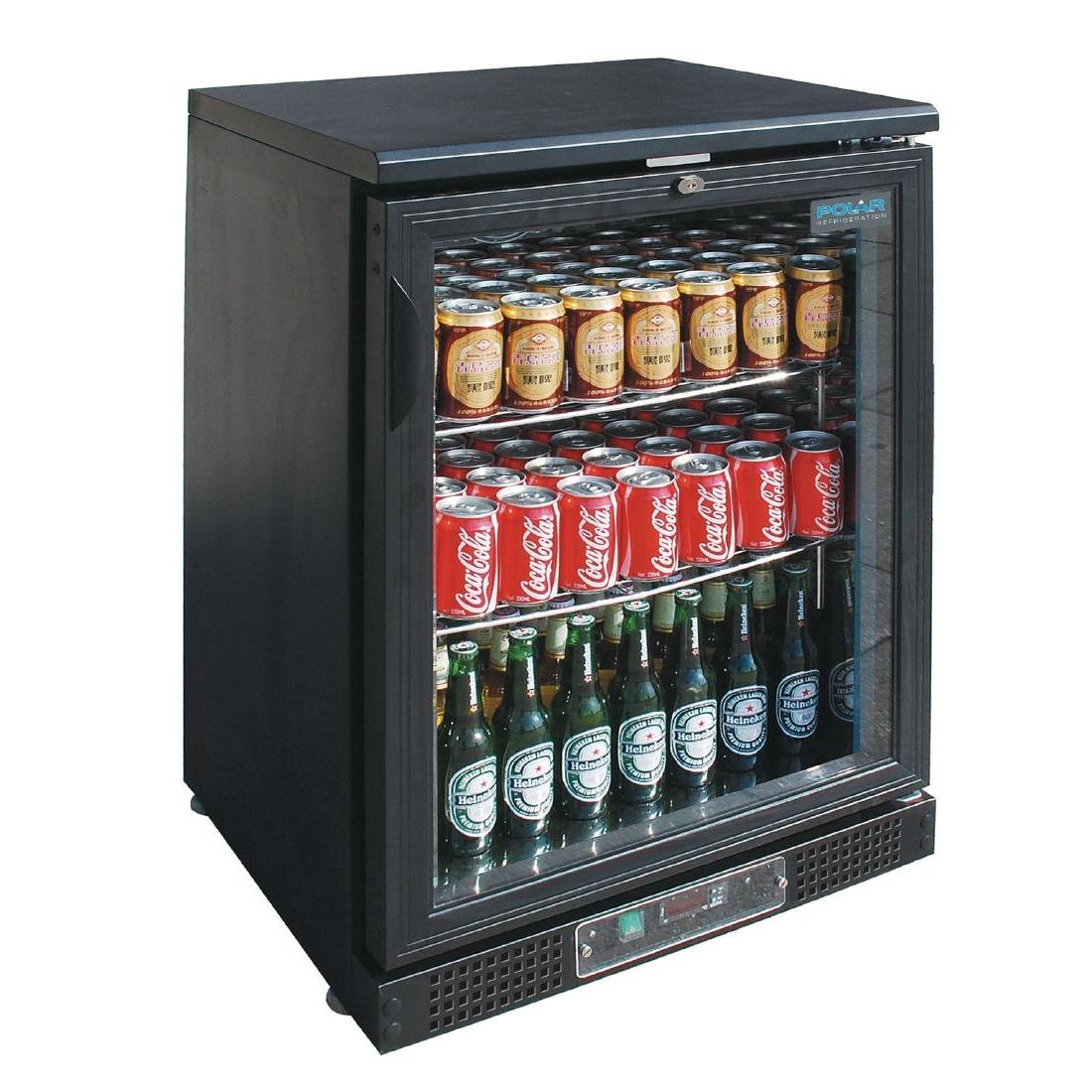 Arrière-bar bas une porte pivotante 130L 104 bouteilles