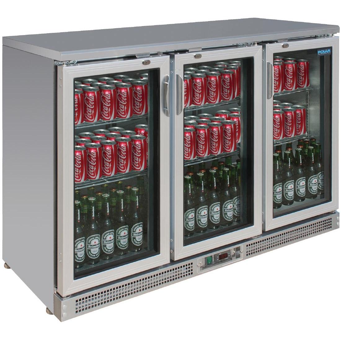 Arrière-bar portes à charnières 273 bouteilles 335L