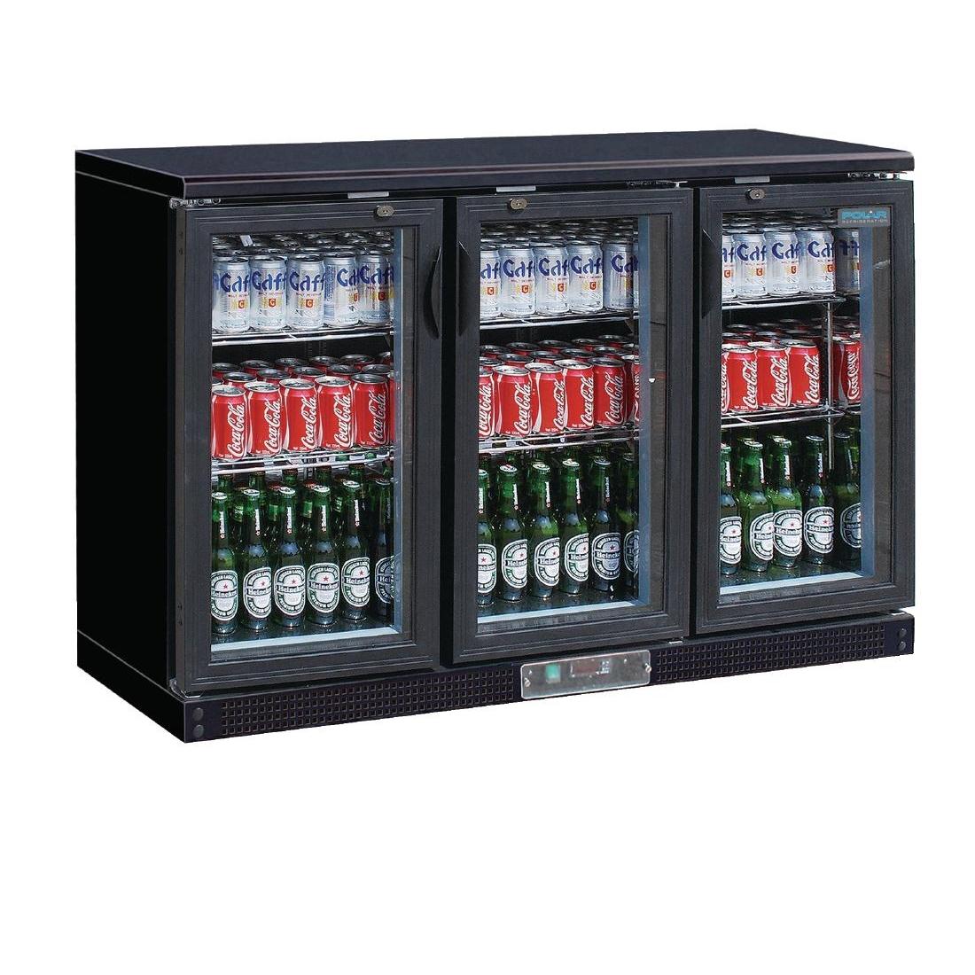 Arrière-bar noir 273 bouteilles 335L