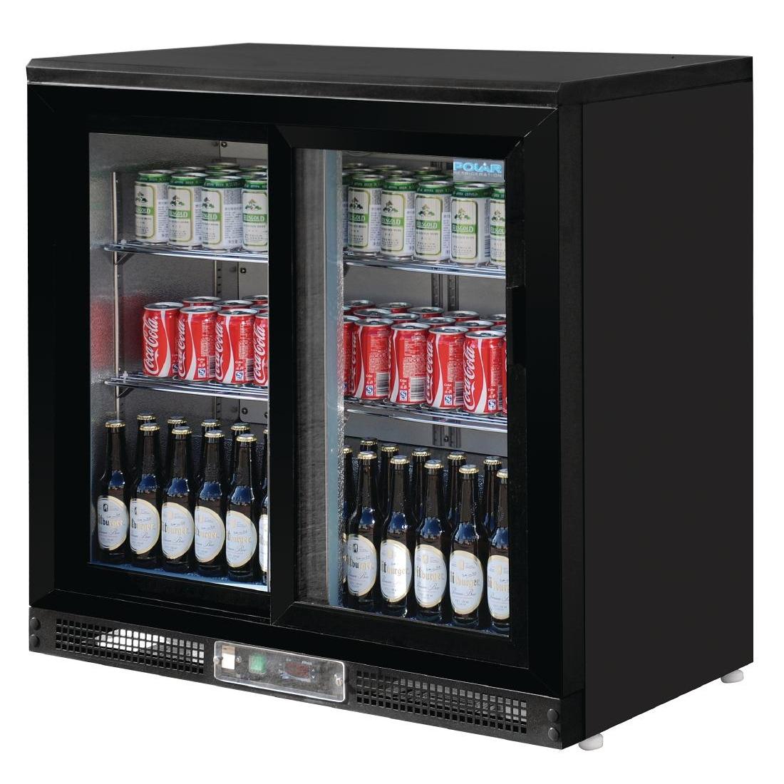 Arrière-bar portes coulissantes 182 bouteilles 223L