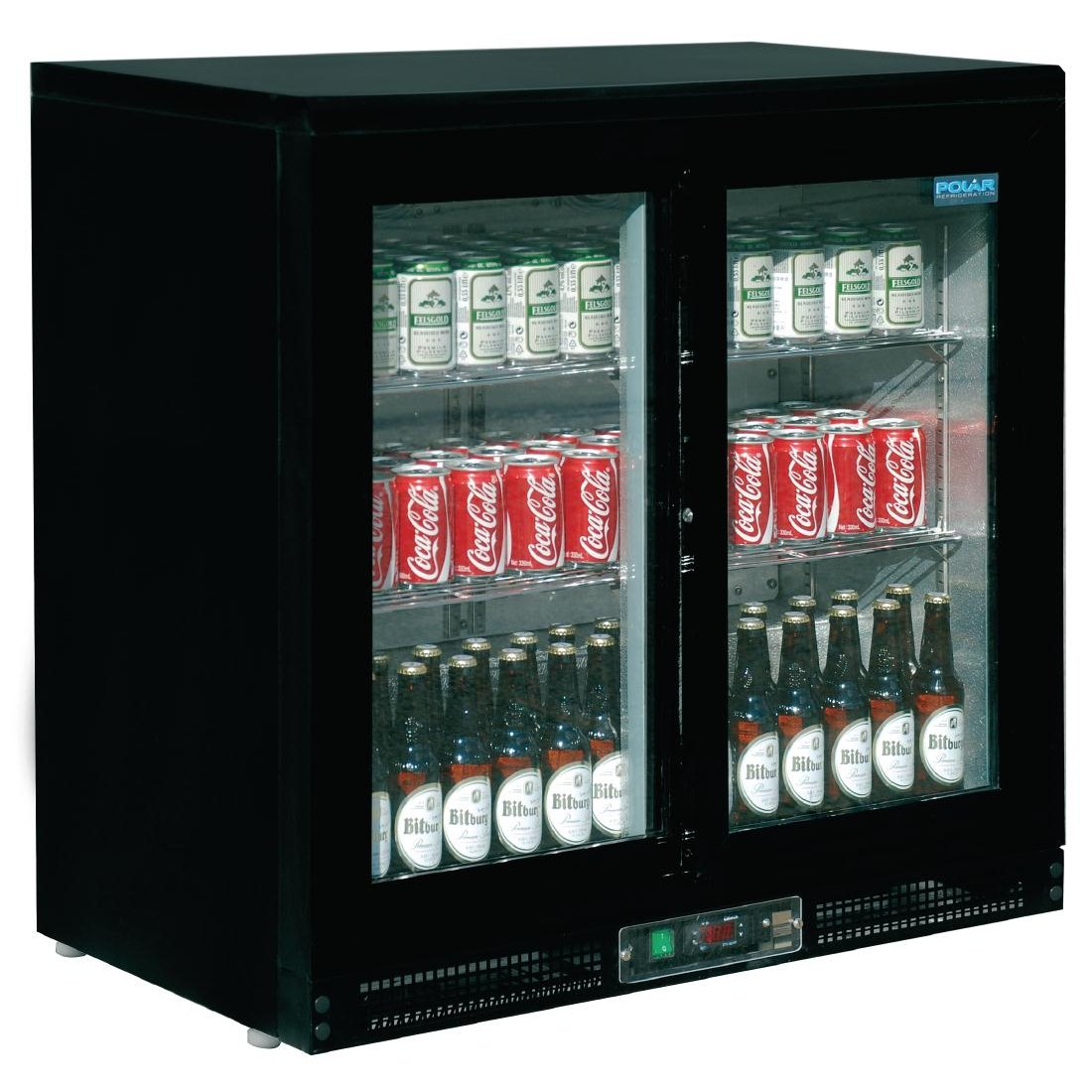 Arrière-bar 2 portes 200L 168 bouteilles