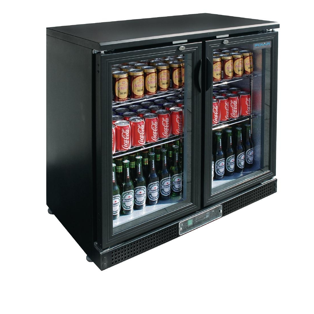 Arrière-bar deux portes pivotantes 182 bouteilles Polar Série G