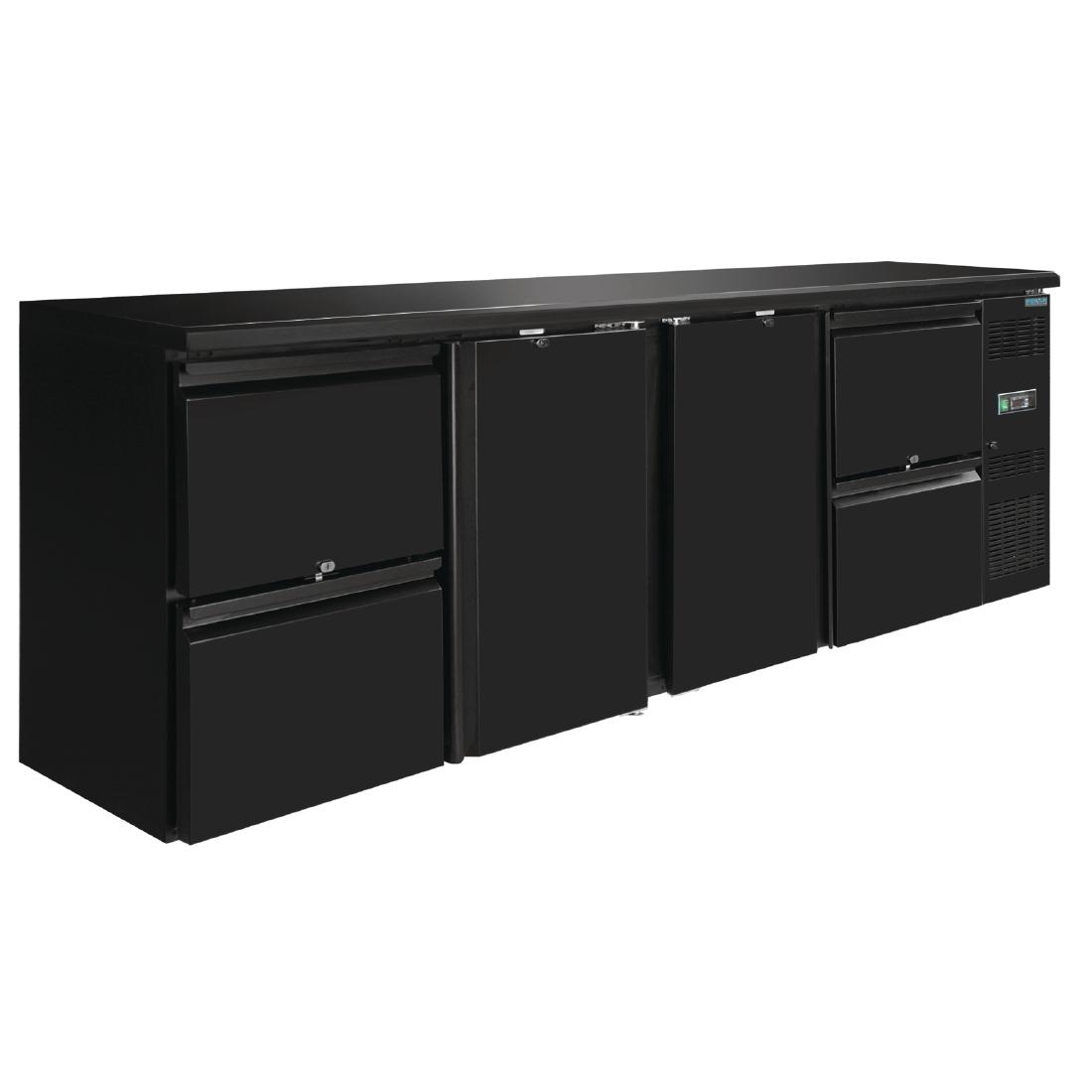 Arrière-bar Polar Série U 2 portes et 4 tiroirs