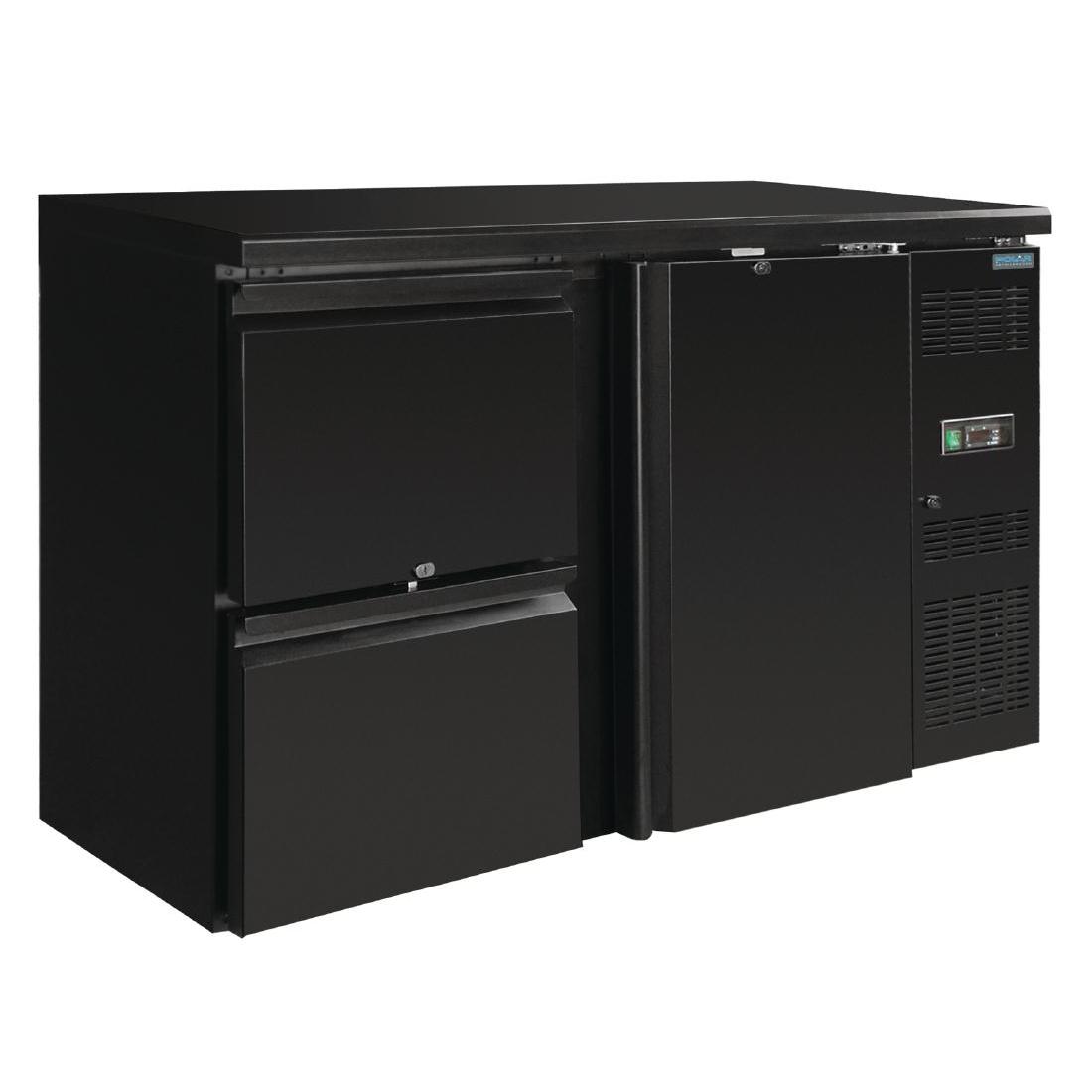 Arrière de bar 1 porte et 2 tiroirs 349L