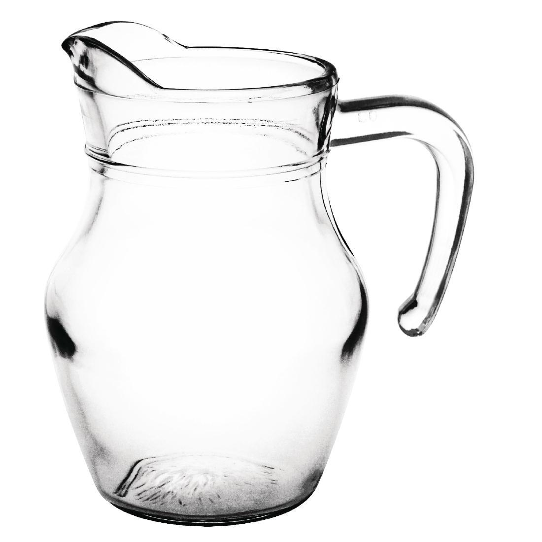 Pichet en verre 0,5L par 6