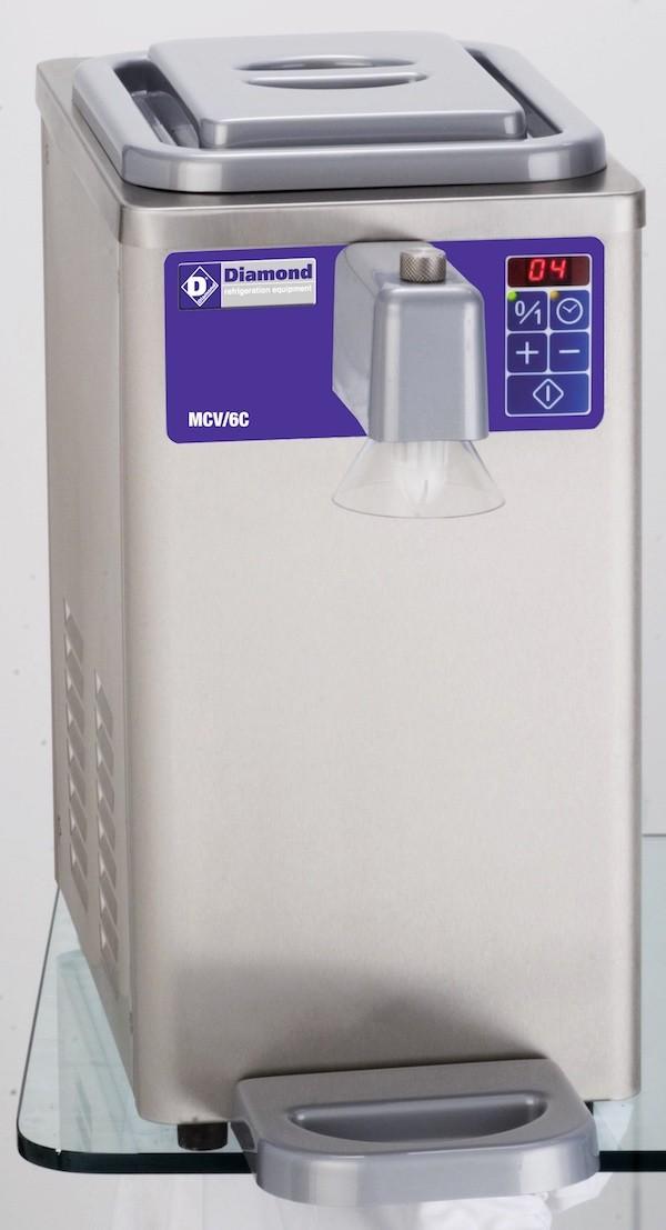 Machine réfrigérée à chantilly en inox, cuve 6 litres (300 l./h)