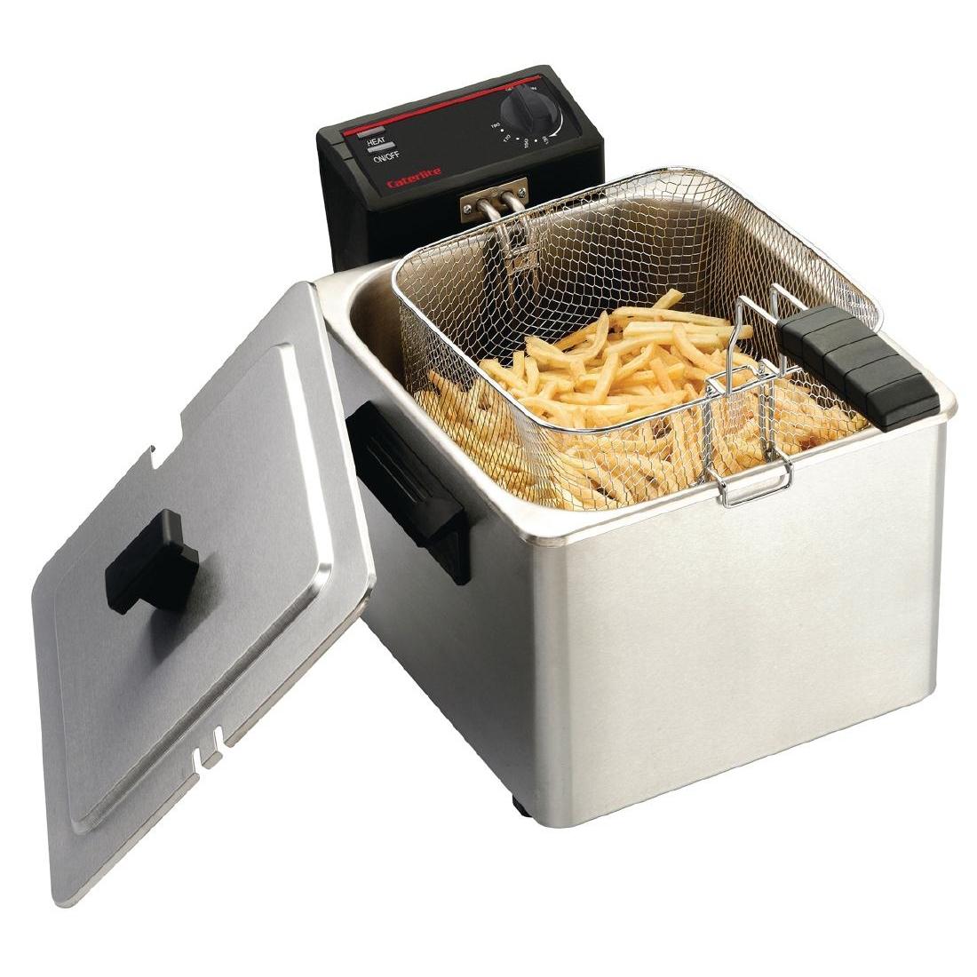Friteuse de comptoir simple peu intensive 8L