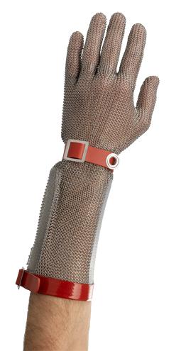 Gant de protection avec manchette inox 20 cm  réversible