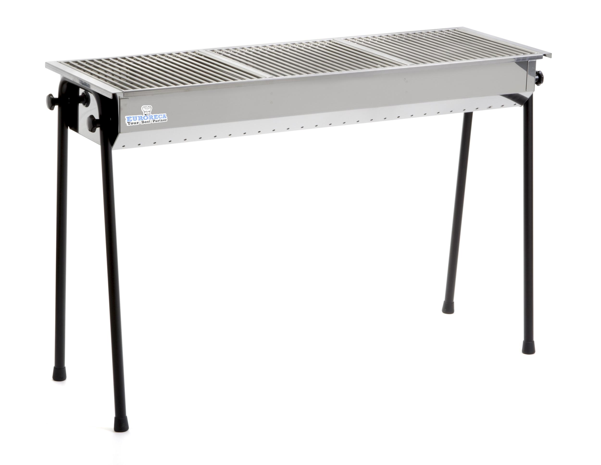 Barbecue à charbon de bois INOX Resto 1145x380