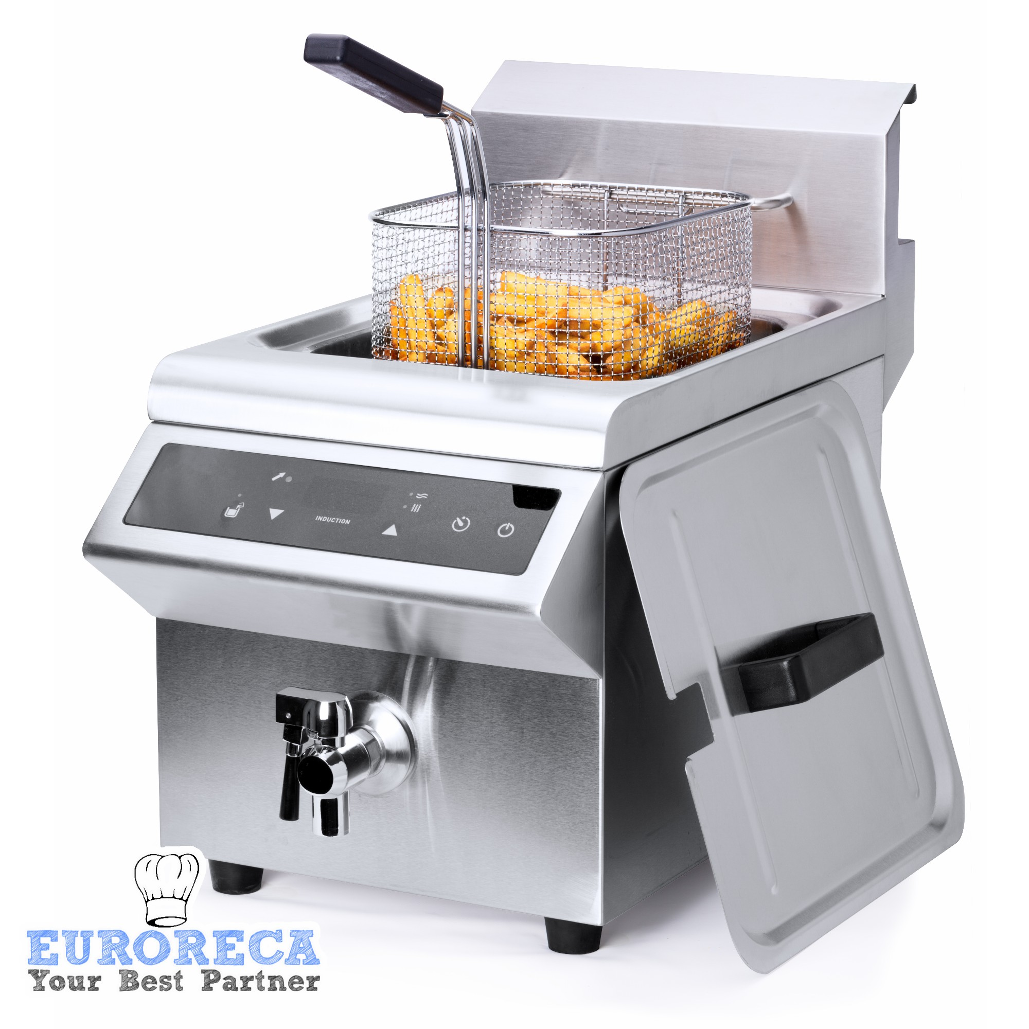 Friteuse professionnelle à induction 8L 3500W