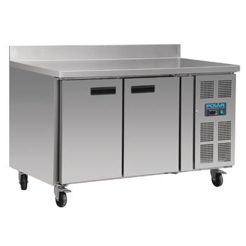 Table réfrigérée 2 portes avec dosseret 282L