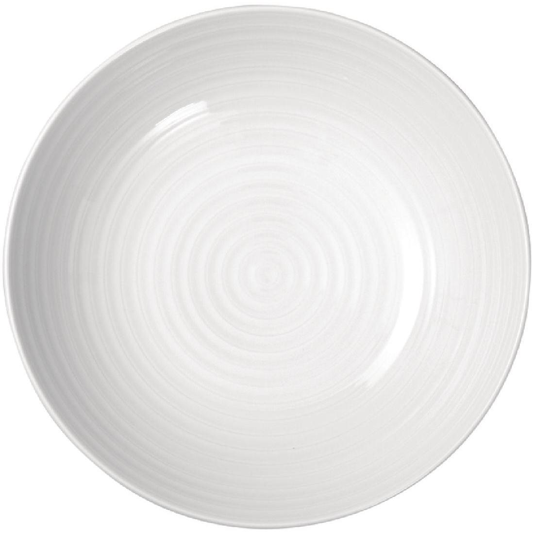 Assiette à pâtes Intenzzo White 230mm par 4
