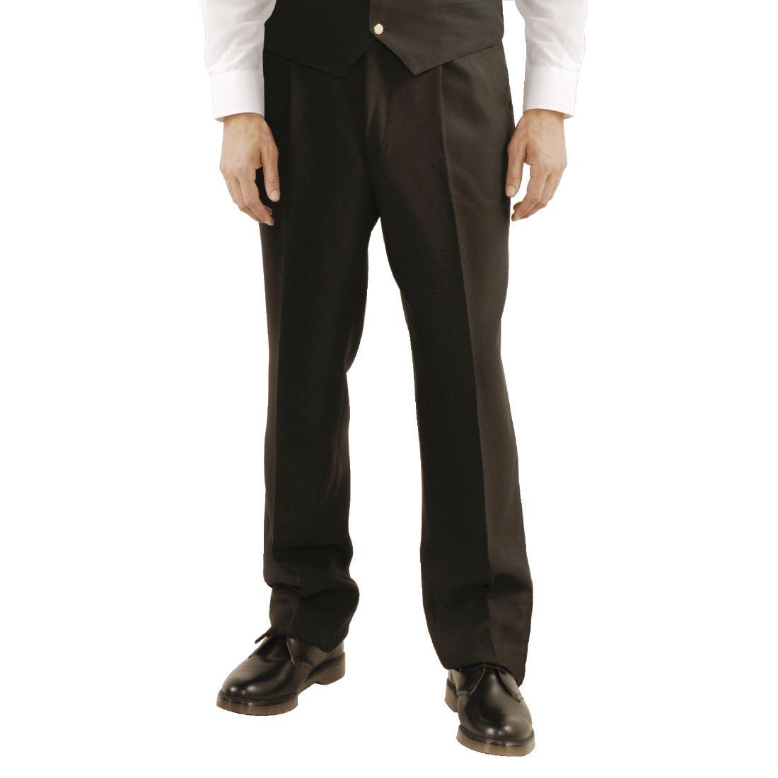 Pantalon à pli de service homme noir