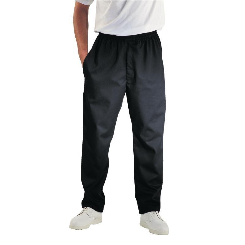 Pantalon de cuisinier Easyfit noir