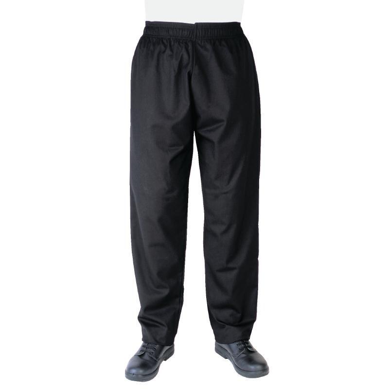 Pantalon de cuisinier unisexe noir