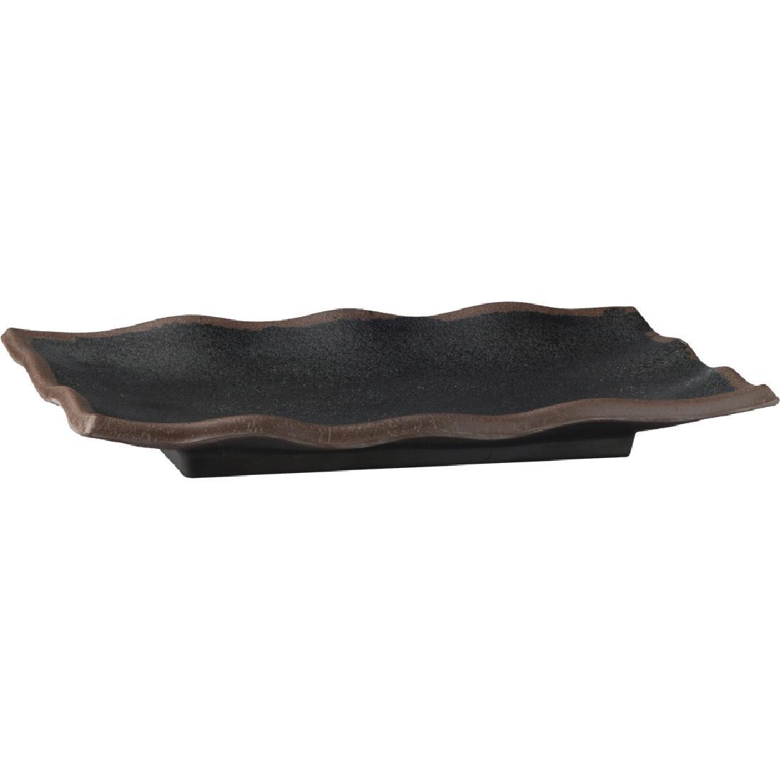 Plat ondulé noir en mélamine APS Marone 275 x 110mm
