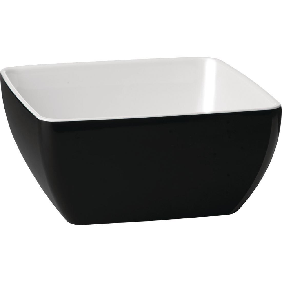 Ravier en mélamine bi-tons APS Pure noir et blanc 125x 125mm