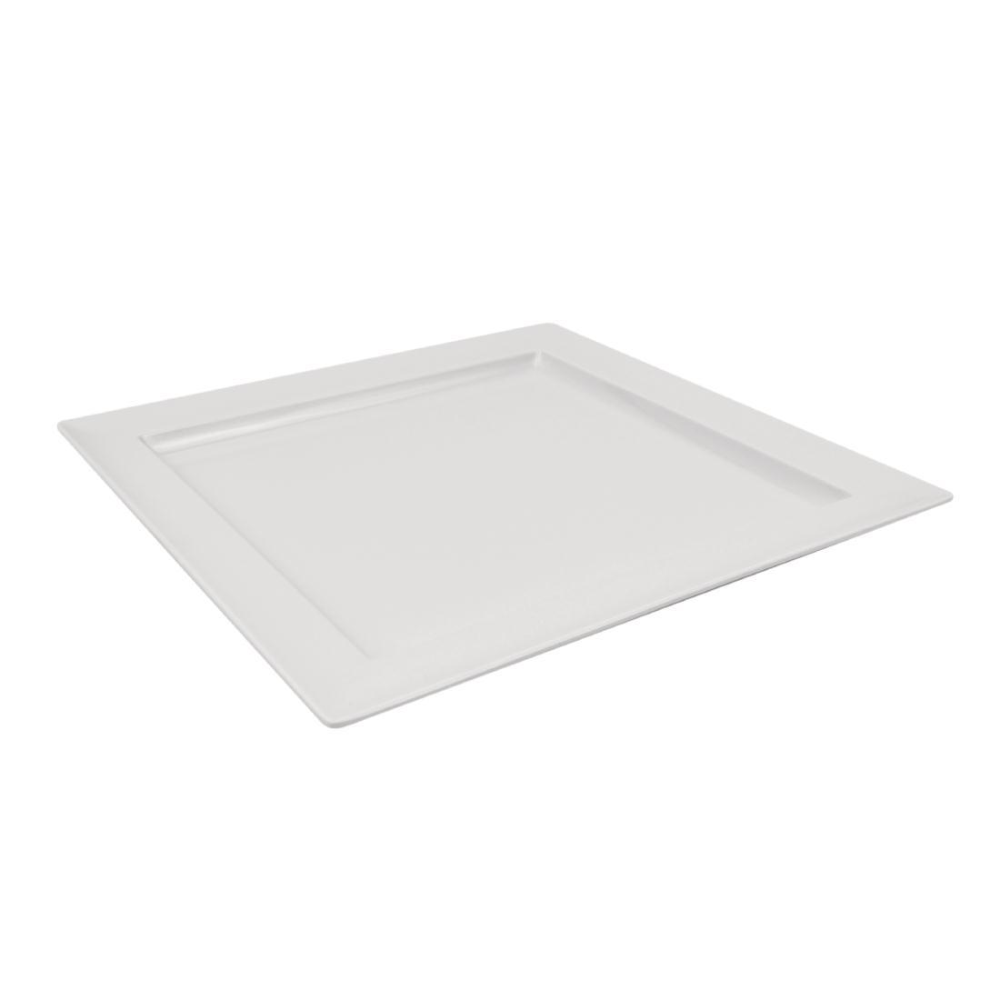 Plateau carré en mélamine Dalebrook blanc 375mm