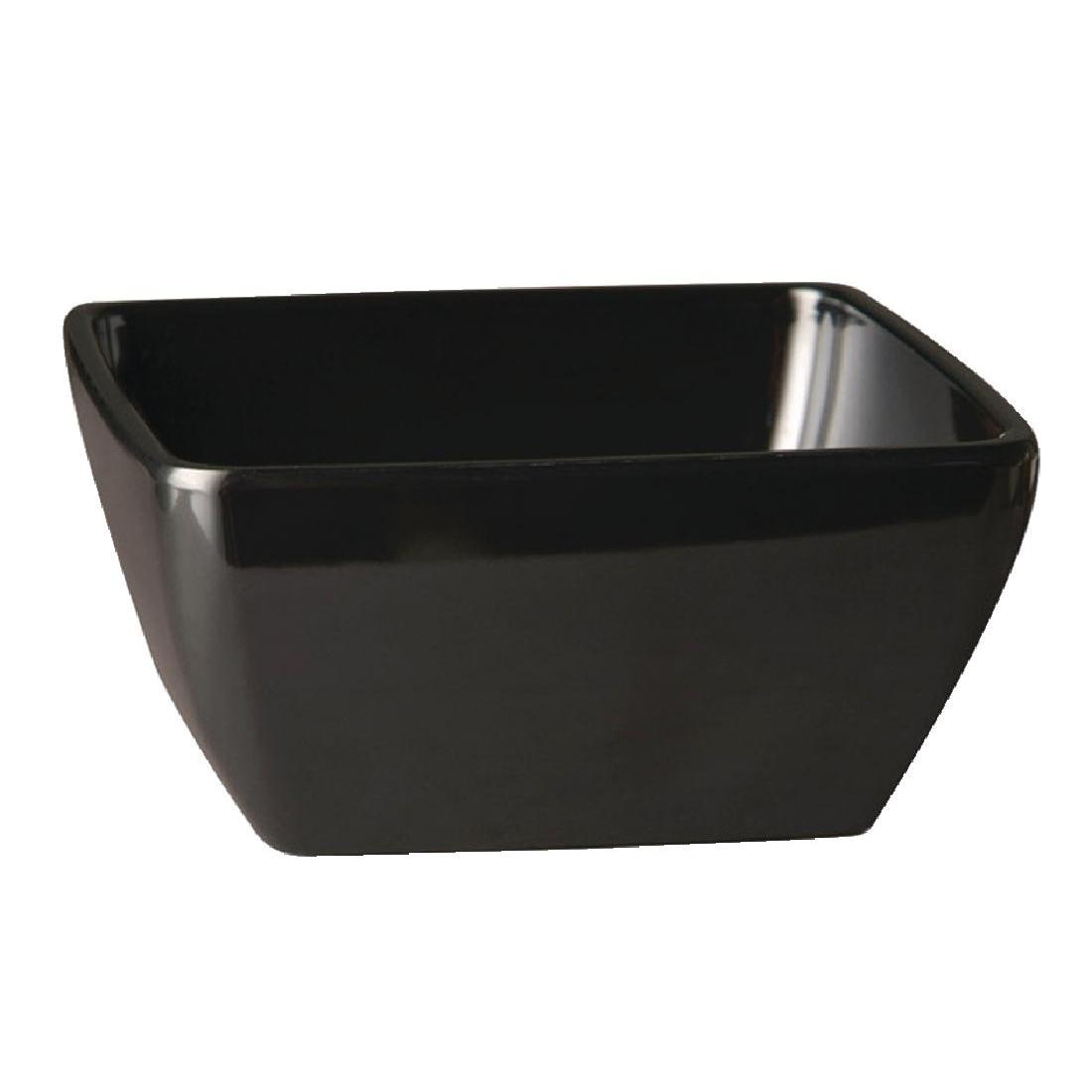 Bol carré en mélamine APS Pure noir 125mm