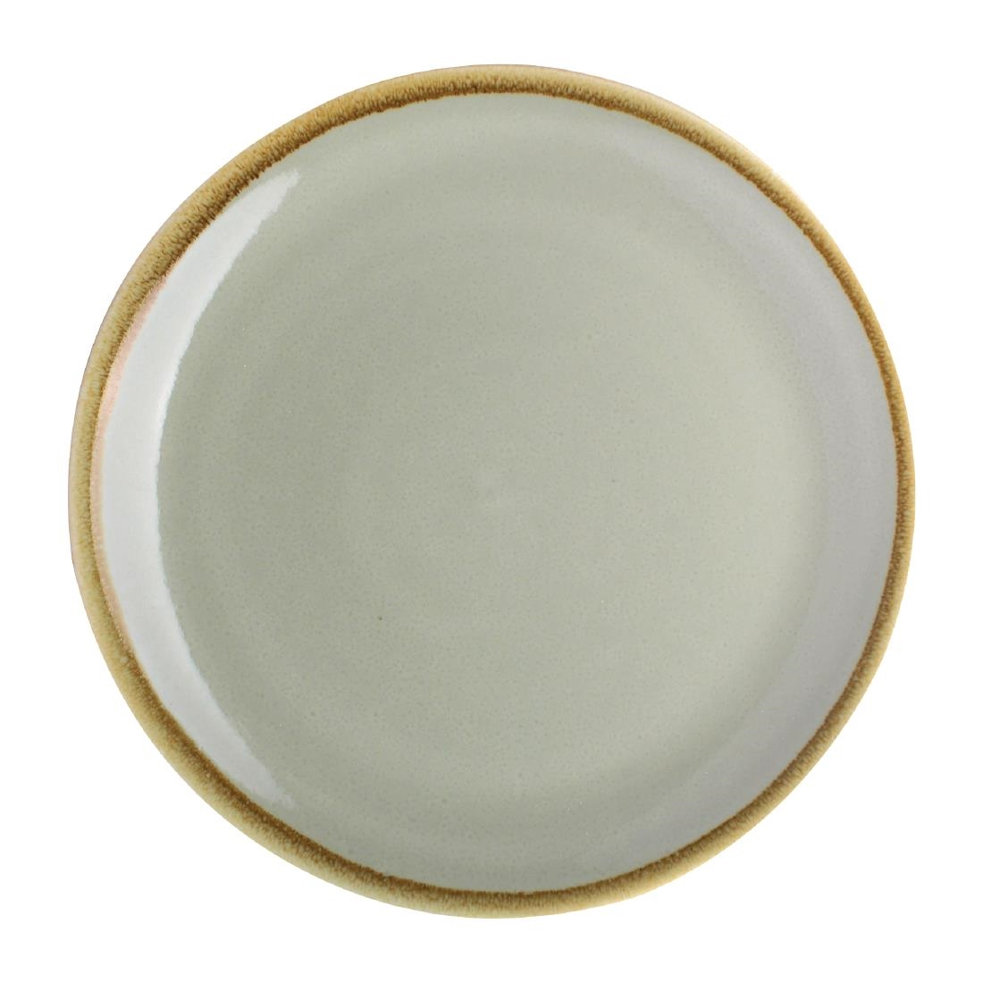 Assiette plate ronde couleur mousse Kiln Olympia 230mm lot de 6
