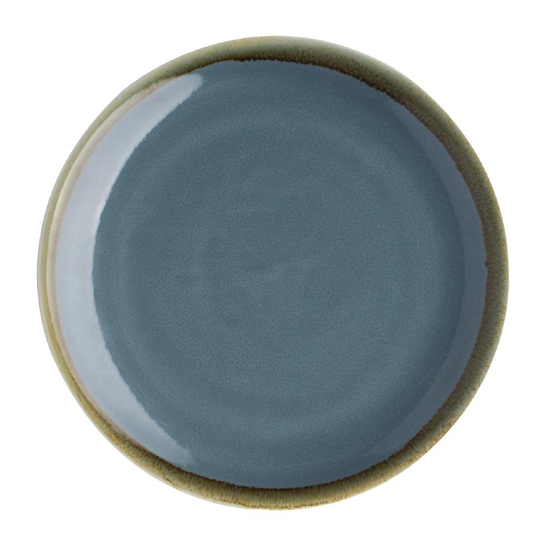 Assiette plate ronde couleur océan Kiln Olympia 230mm lot de 6