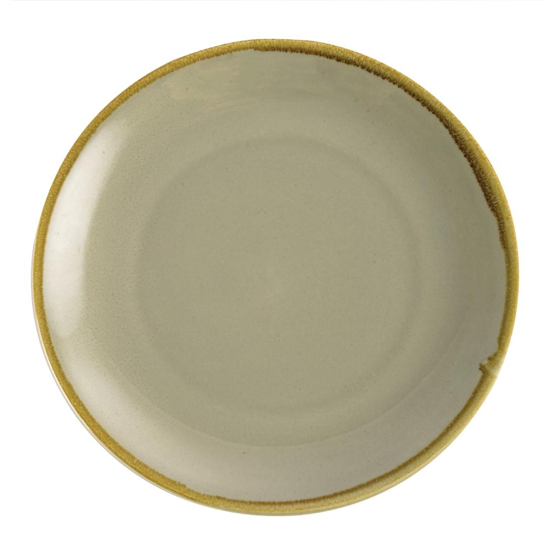 Assiette plate ronde couleur mousse Olympia Kiln 280mm