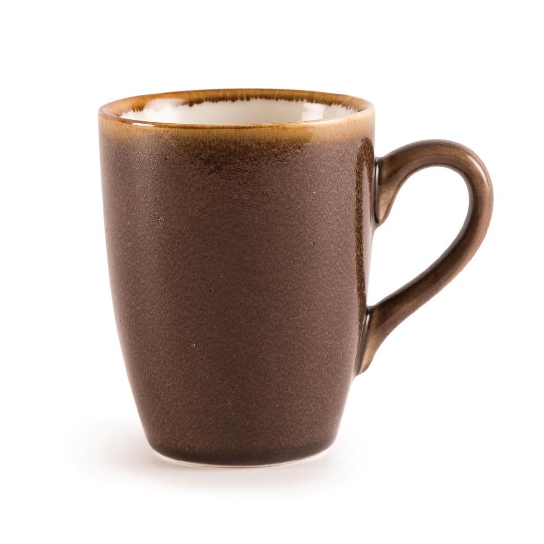 Mug couleur écorce Olympia Kiln 340ml par 6