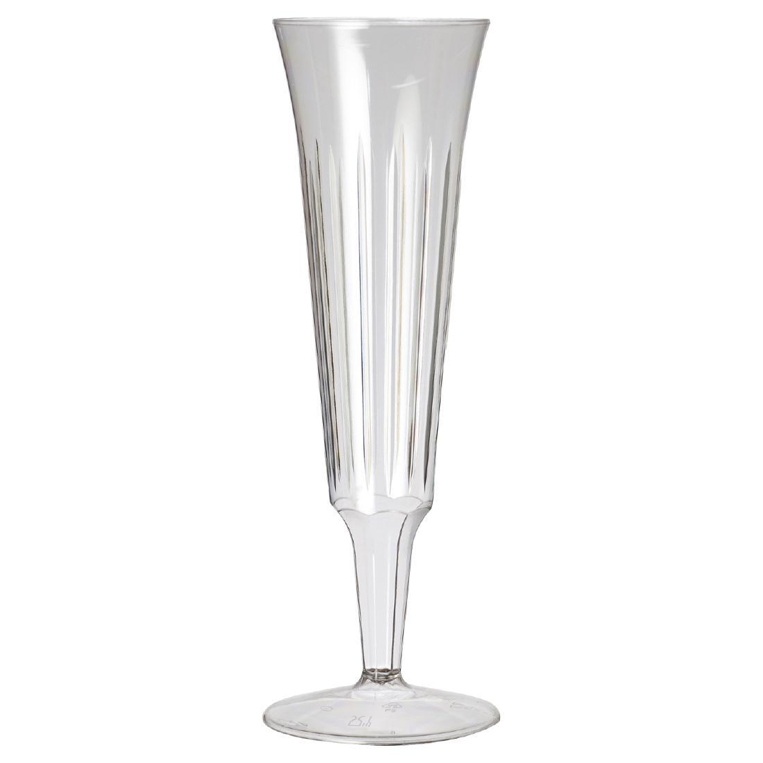 Flûtes à champagne jetables Plastico par 10