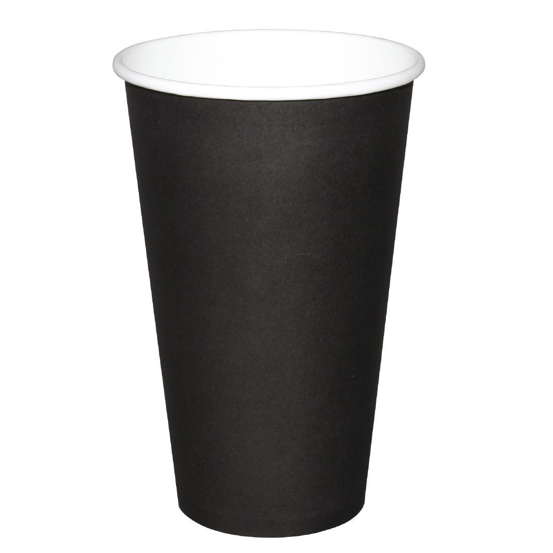 Gobelets jetables boissons chaudes Fiesta noirs 450ml x1000