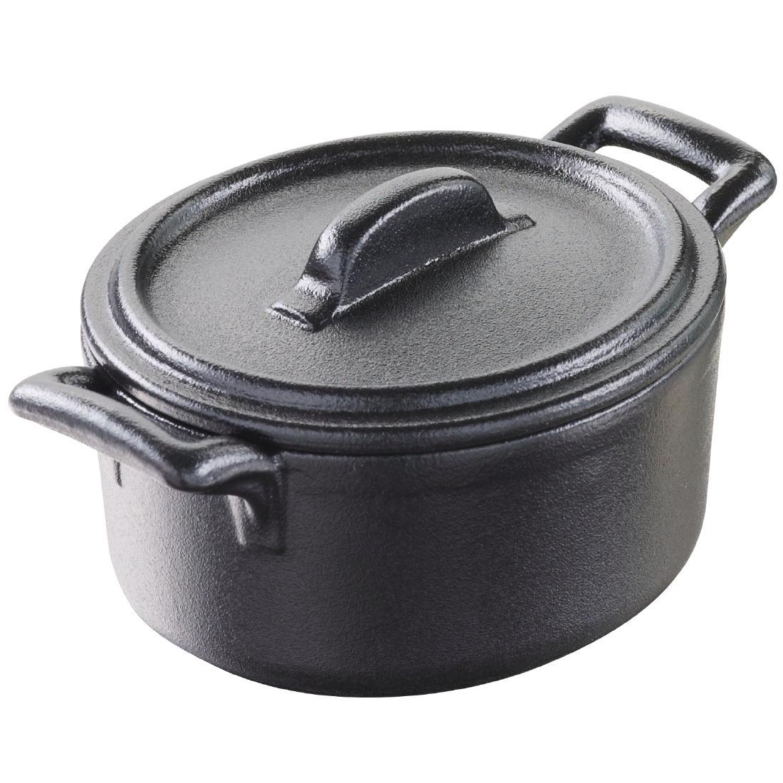 Mini cocottes Revol Miniature Belle Cuisine noires 75mm par 6
