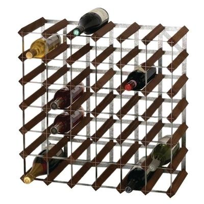 Casier à bouteilles en bois chêne foncé 42 bouteilles