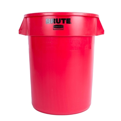 Conteneur Brute Rubbermaid rond rouge 121L