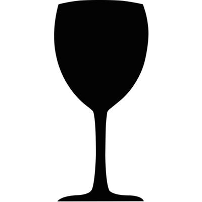 Ardoise verre à vin Securit