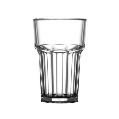 Verre droit en polycarbonate nucléé BBP 285ml par 36