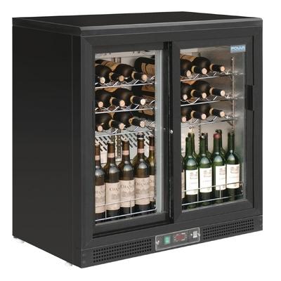 Cave à vin horizontale portes coulissantes 56 bouteilles