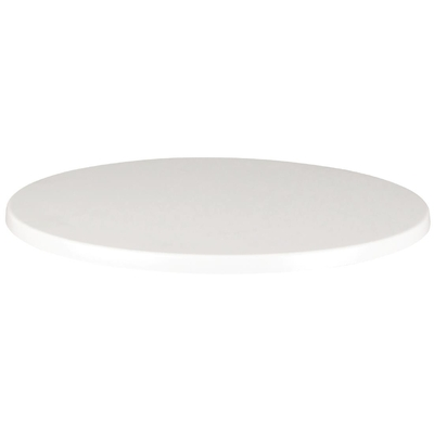 Plateau de table rond Werzalit blanc 600mm