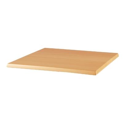 Plateau de table carré Werzalit hêtre 600mm