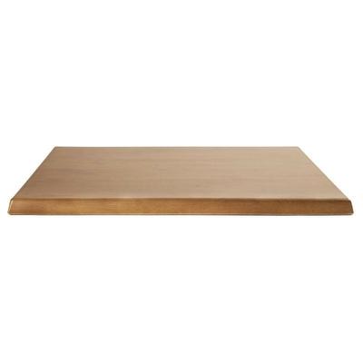 Plateau de table carré Werzalit chêne 600mm