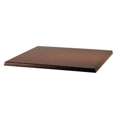 Plateau de table carré Werzalit noyer d'Italie 600mm