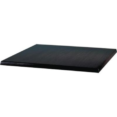 Plateau de table carré Werzalit noir 600mm