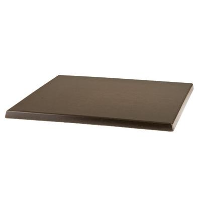 Plateau de table carré Werzalit wengé 600mm