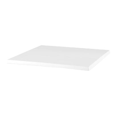 Plateau de table carré Werzalit blanc 600mm