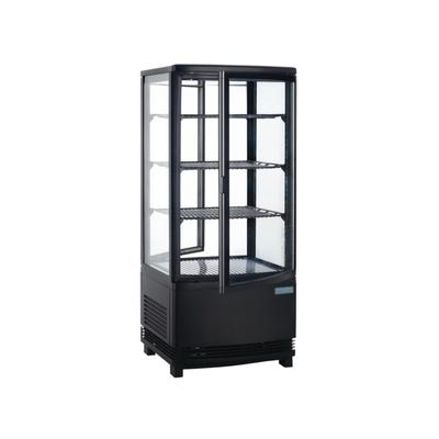 Vitrine réfrigérée avec portes incurvées 86L noir