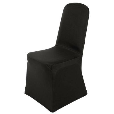 Housse de chaise de banquet noire
