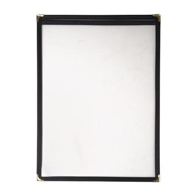 Protège-menus style américain A4 double face noir