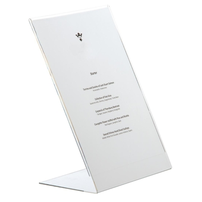 Protège-menus incliné en acrylique A5